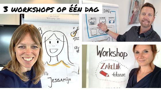 Kijkje achter de schermen: incompany workshop zakelijk tekenen