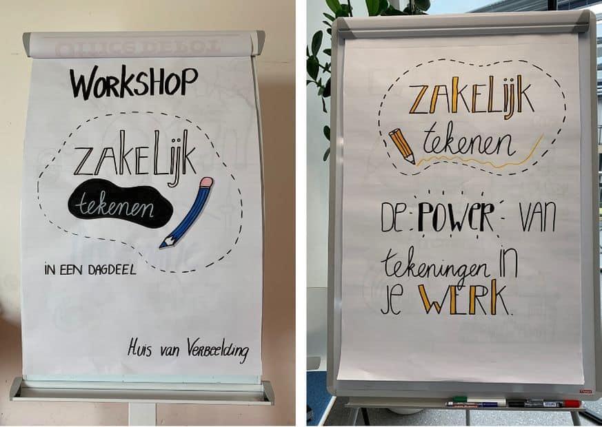 Kijkje achter de schermen: voorbereiding Workshop Zakelijk Tekenen